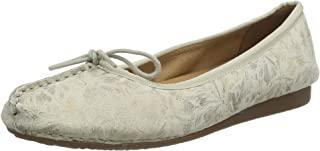 Clarks 女式 freckle 冰芭蕾平底鞋