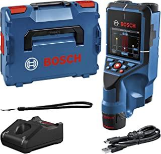 Bosch 博世 Professional 12V 系统墙壁扫描仪 D-tect 200 C(12 V 电池,无电压导向线,金属,塑料管,木材部件和空心空间,USB-C™电缆,L-BOXX),蓝色