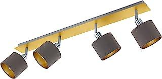 EGLO VALBIANO 聚光灯,钢,吸顶灯,4 个灯泡,10 W,黄铜拉丝,镍哑光