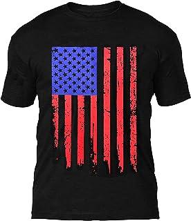 EULLA 美国国旗军人 T 恤 复古 美国国旗 印花 爱国 T 恤