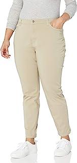Dickies 女士完美修身斜纹 4 口袋长裤