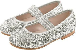 Ozkiz 小女孩休闲玛丽珍平底闪光礼服鞋多种款式