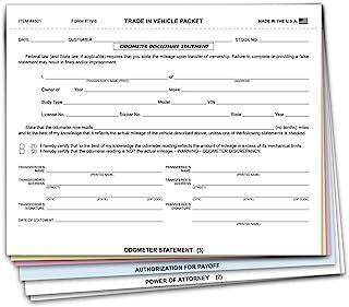 Trade in Vehicle Packet - 6 部分组合形式(100 包)