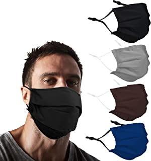 YUESUO XL 超大胡须时尚可重复使用面膜布成人双面覆盖,适用于胡须男士