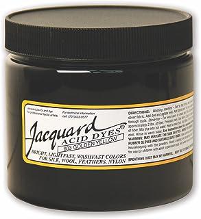 用于羊毛、丝绸和其他蛋白质纤维的提花酸染料,8 盎司罐装,浓缩粉,金黄色 603