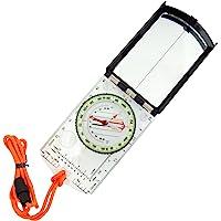 Sun Company 瞄准地图指南针,带可调节偏角 - 手持式定向基板指南针,适用于徒步旅行、背包和生存导航