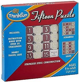 Think Fun 15块拼图-经典拼图游戏,非常适合旅行,适合8岁及以上的孩子,可随身携带