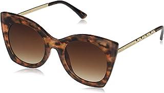 Vince Camuto 女式 VC859 超大猫眼太阳镜,带金属水钻细节和* 防紫外线,70 毫米