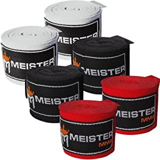 Meister 成人 180 英寸(约 457.2 厘米)护腕 适用于综合格斗和拳击 - 3 双装