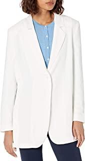 AX Armani Exchange女式排扣流体绉纱单扣外套