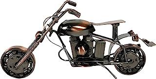 Urbalabs Nutrition 金属摩托车工业自行车手切碎机办公桌雕塑 9 英寸(约 22.9 厘米)复古回收金属切碎机手工螺栓螺母胖男孩独特男人洞艺术装饰自行车链(M14 铜)