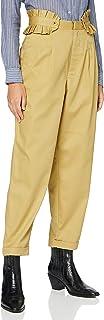 Scotch & Soda 女式清爽斜纹棉布带可拆卸褶皱腰带休闲长裤