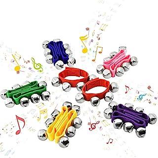 MUSICUBE 12 件 6 色打击乐器,手腕铃铛音乐节奏玩具乐队铃铛