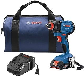 Bosch 博世 GDX18V-1600B12 Freak 18 伏 1/4 英寸(约 0.6 厘米);1/2 英寸(约 1.3 厘米)无绳冲击钻(含 1 个电池)