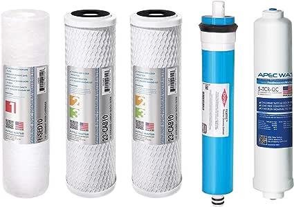 APEC Water Systems FILTER-MAX90 APEC 90 GPD ULTIMATE 高流量 5 级高容量过滤器套装,带 Dow Filmtec 膜 (FILTER-MAX90)