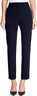 DKNY 女式 Misses 弹力绉绸固定腰紧身裤