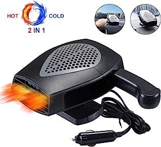 便携式汽车取暖器,挡风玻璃除霜,可插入点烟器,30 秒内快速加热,除霜和除雾挡风玻璃,用于 12V 150W 点烟器插头