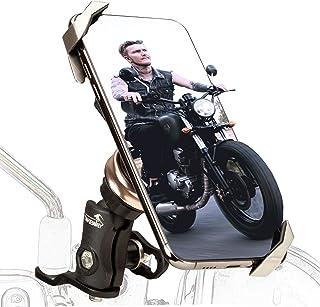 TAKEWAY LA3-PH05-ANV 防震摩托车支架,后视镜固定底座,稳定,可调,双插座臂,手机夹,适用于 4.7-6.7 英寸智能手机多角度视野