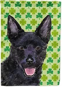 Australian Kelpie St. Patrick's Day Shamrock Portrait Flag 多色 小号