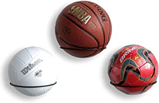 Wallniture Sporta 球收纳架 壁挂式 3 件套足球、排球和篮球架,钢
