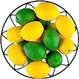 Toopify 20 件仿真柠檬和青柠假水果柠檬仿真仿真柠檬,适用于家庭厨房派对装饰,3 英寸 X 2 英寸