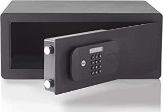 Yale YSEB/200/EB1 电动高*紧凑* - 数字针码访问,激光切割门和锁定功能 + 覆盖钥匙,墙壁/地板安装螺栓 - Int Dims: 192 x 345 x 145 毫米