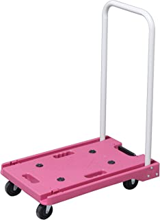 IRIS PLAZA 梯车 折叠 轻量 静音 承重 脚轮 100千克 粉色