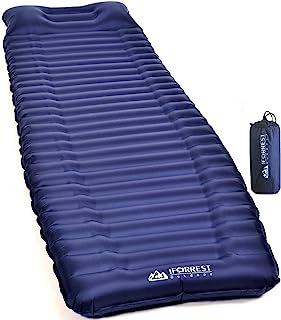 IFORREST 带扶手和枕头的睡垫 - 翻转保护,4 英寸超厚超轻露营气垫 适合徒步旅行、背包旅行 - *佳充气床 适用于婴儿床、帐篷和吊床