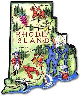 Rhode Island State Decowood 特大木冰箱贴 3.5
