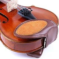 Meech 羊皮小提琴脸颊休息垫带小提琴肩托 适合成人和儿童的小提琴肩托 1/4-1/2