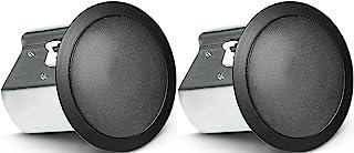 JBL Professional Control 18C/T-BK 双向 8 英寸同轴天花板扬声器,黑色,成对出售