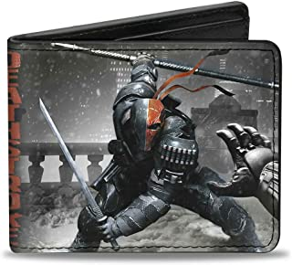 Buckle-Down Wallet Deathstroke Arkham Origins Action Pose/snow Grays/red Accessory 多色 One Size