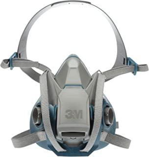 3M 坚固耐用的舒适快速闩锁半面罩,可重复使用的防护面罩,6503QL,可以阻挡各种气体,蒸气,灰尘,大