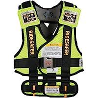 美国艾适RideSafer3穿戴式汽车儿童安全座椅便携背心适于3-6岁(体重13.6-27.2公斤)小号黄色(美国进口…
