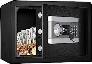 Kacsoo 防火防水*柜*盒,数字密码锁*,带键盘 LED 指示灯,适用于手枪现金首饰重要文件(0.8 立方米)美国库存