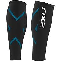 2 X U 女士压缩小腿护具 Black/Capri Blue 小号