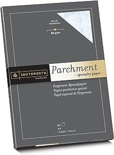 Southworth 90190 羊皮纸 25% 棉 DIN A4 蓝色 带水印 90 克 / 平方米 80 张纸盒包装