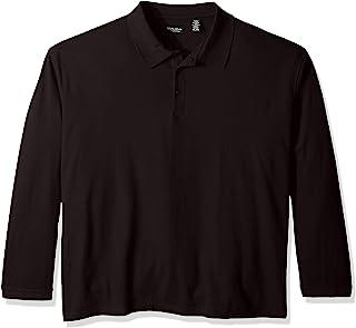 UltraClubs 女童 Big ULTC-8542 长袖 Whisper Piqué Polo 衫,*蓝小号