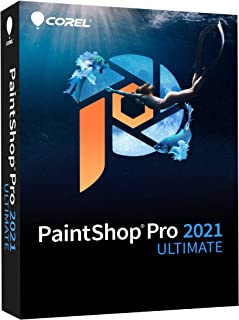 Corel PaintShop Pro 2021 Ultimate | 照片编辑和图形设计软件*创意系列 [PC 光盘] | Ultimate|1 台设备|永久|PC|光盘
