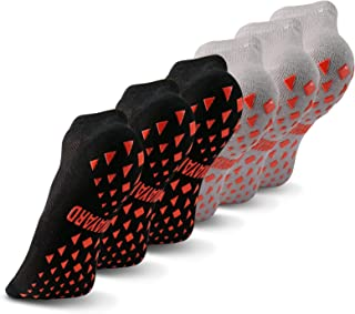 NOVAYARD 6 双防滑袜,抓地力*瑜伽普拉提袜子粘性夹具,男女适用