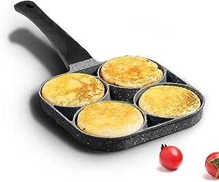 MIUGO 美高 4 杯鸡蛋平底锅 *石不粘煎锅 兼容所有热源(黑色手柄)