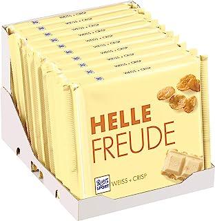 RITTER SPORT 250g Weiss + Crisp (10 x 250 g), Weiße Schokolade mit Crisp, knusprige Cornflakes in weißer Schokolade, Großt...
