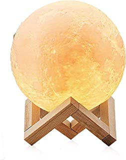 DDL 月 灯 USB充电式 闪亮月球灯 MOON 直径8.5厘米