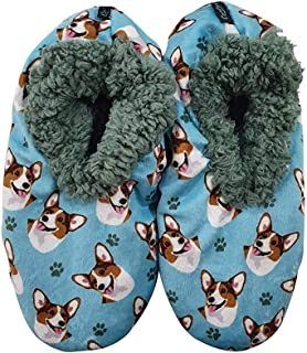 Welsh Corgi 超柔软女式拖鞋 - 均码适合大多数人 - 舒适家居拖鞋 - 防滑底 - 完美适合威尔士·柯基礼物
