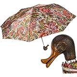 Pasotti 花朵折叠伞带鸭柄,意大利手工制作,多色