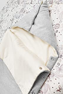 Wallaboo 睡袋 – 适合新生儿至9个月宝宝 – 睡袋*棉 – 襁褓毯方便睡觉 – 颜色:银色/淡紫色 80 x 40厘米