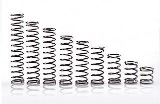 CREEYA 小型压缩弹簧 10 件 304 不锈钢压力弹簧线直径 0.8 毫米 / 0.03 英寸,外径 8 毫米 / 0.31 英寸,长度 10-50 毫米 / 0.39-1.97 英寸,多用途(尺寸:0.8x8x35 毫米)
