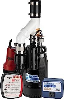 THE BASEMENT WATCHDOG 组合型号 CITE-33 1/3 HP 主电池和备用水泵系统,带 24 小时全天候监控控制器