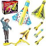 Jasonwell 玩具火箭发射器儿童坚固踩踏发射玩具有趣的户外玩具,适合年龄 5 6 7 8 9 10 岁男孩和女孩…