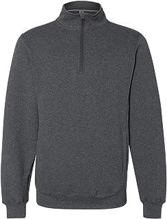 Russell Athletic 男式 Dri-Power 抓绒四分之一拉链学员运动衫